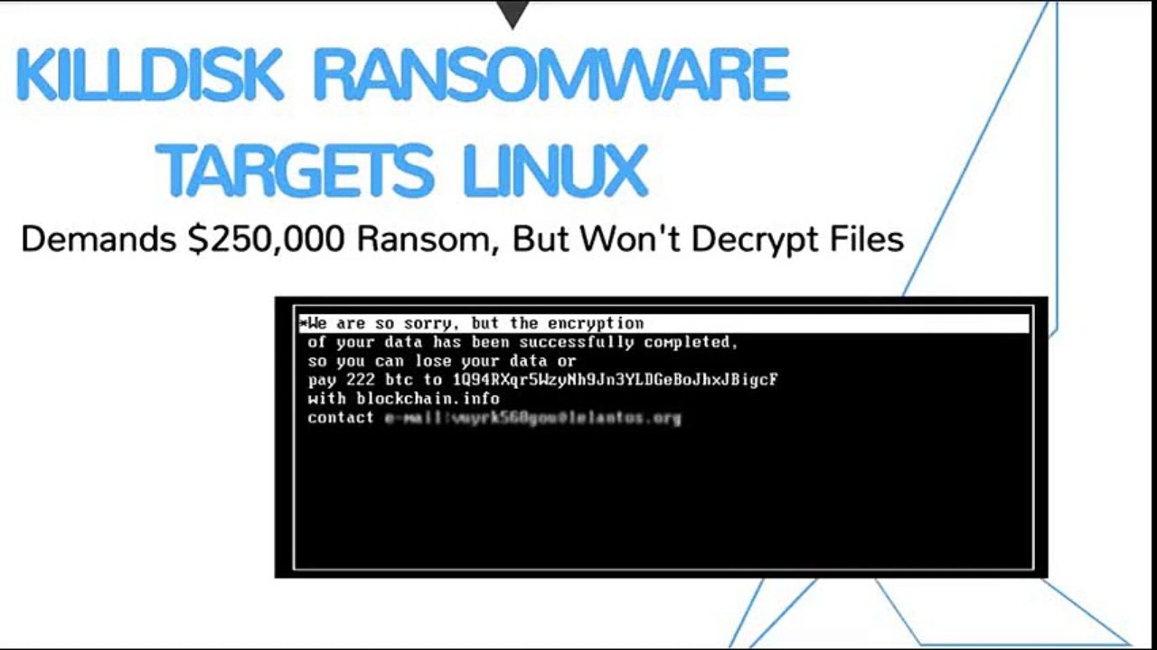 How To Remove Linux KillDisk Ransomware From Computer?