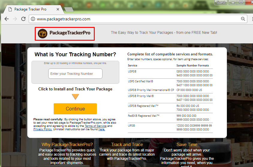 How To Remove Package Tracker Pro Browser Virus Easily?