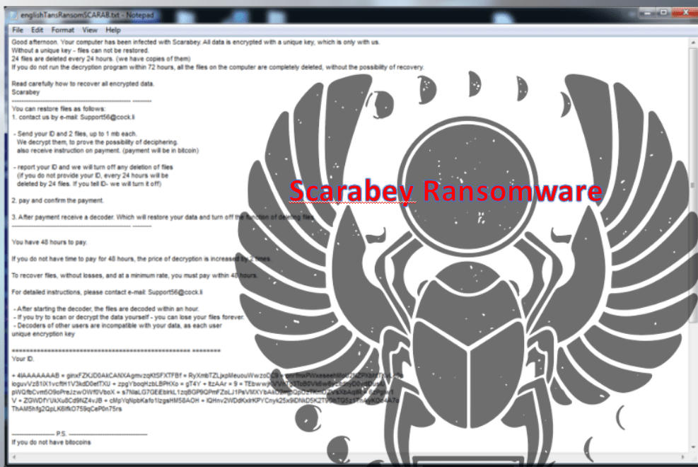 How To Remove Scarabey Ransomware From Computer? (Updated!!)