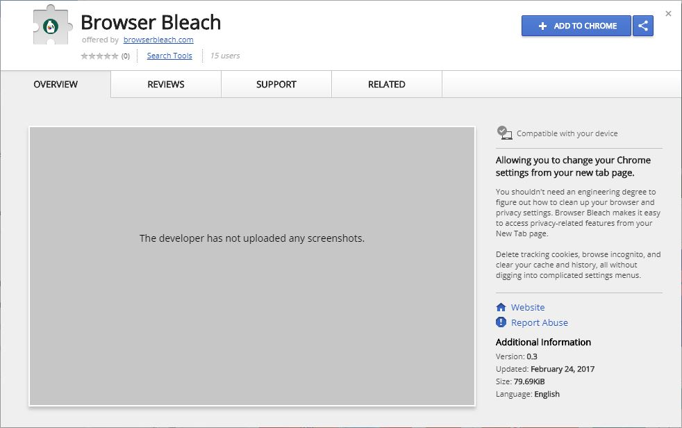 Remove Browser Bleach Google Chrome Extension (2018 Updated)