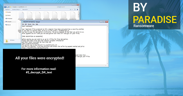 Paradise Ransomware – How To Remove Paradise virus From Computer