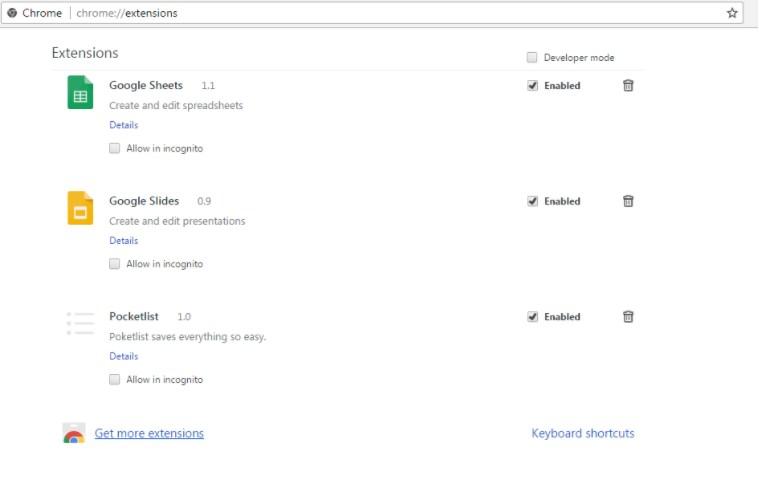 pocketlist browser extension