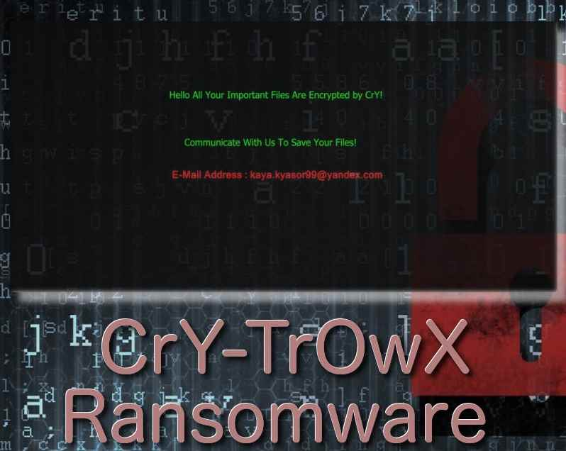 How To Remove CrY-TrOwX Ransomware From Computer Easily