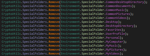 Remove Special Folders