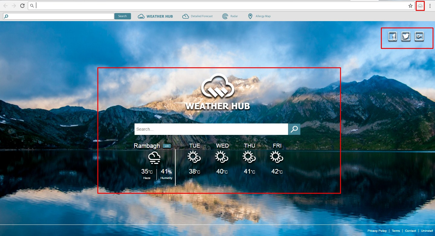 weather hub