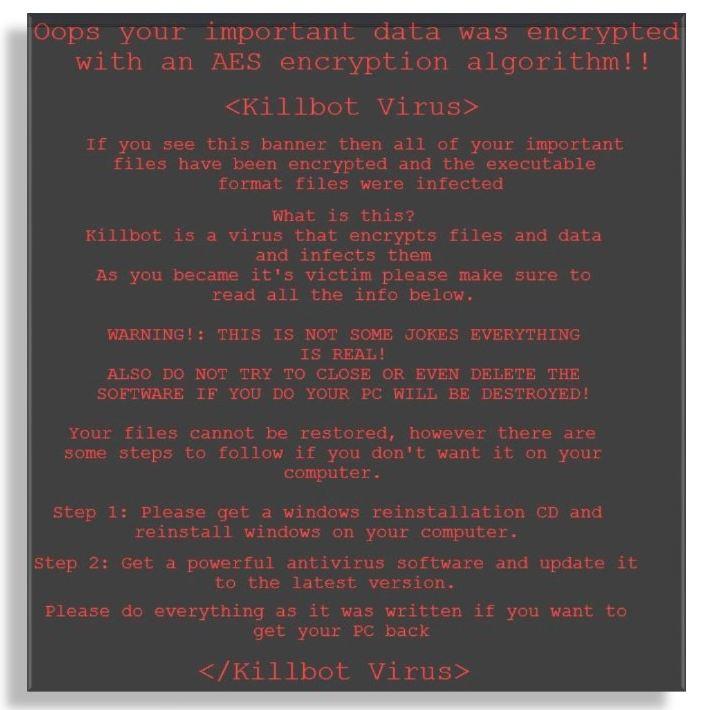 How To Remove KillBot_Virus Ransomware Easily? (Solved)
