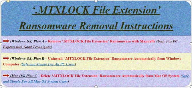 MTXLOCK Removal