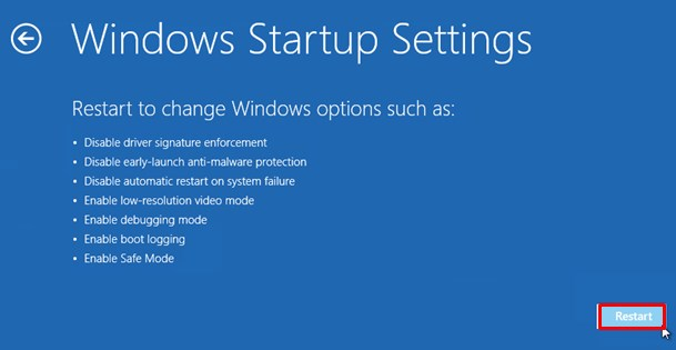 windows 8 restart