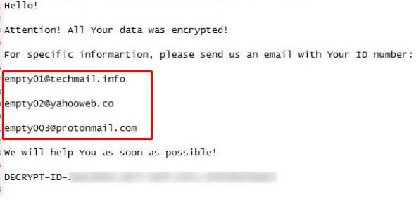 empty ransomware