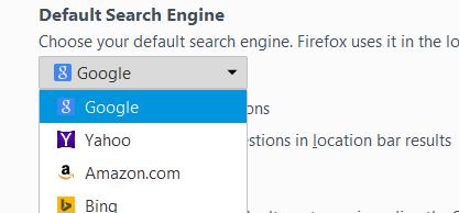 default engine mozilla