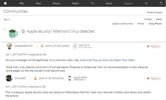 User reviews Apple community