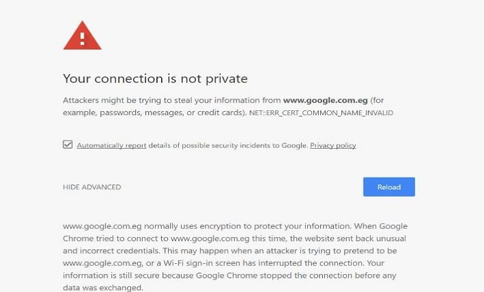 Your Connection is Not Private_sample2