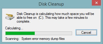 Calculation process of Disk Cleanup Utility