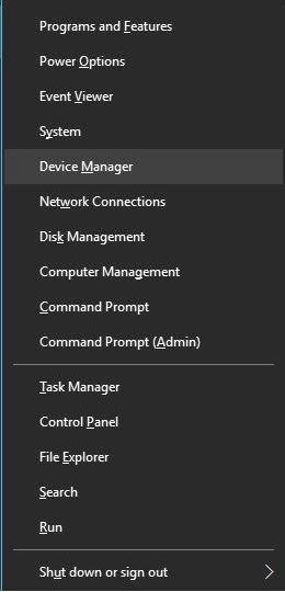 WiFi valid IP configuration - device manager