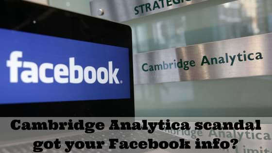 Facebook Shared User Data with Cambridge Analytica scandal