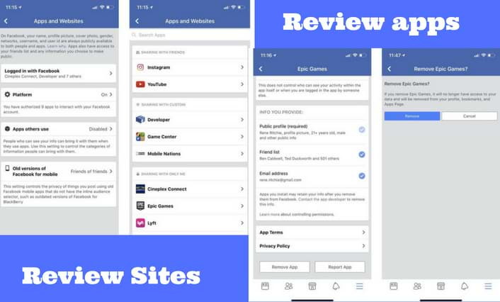 Review apps and sites