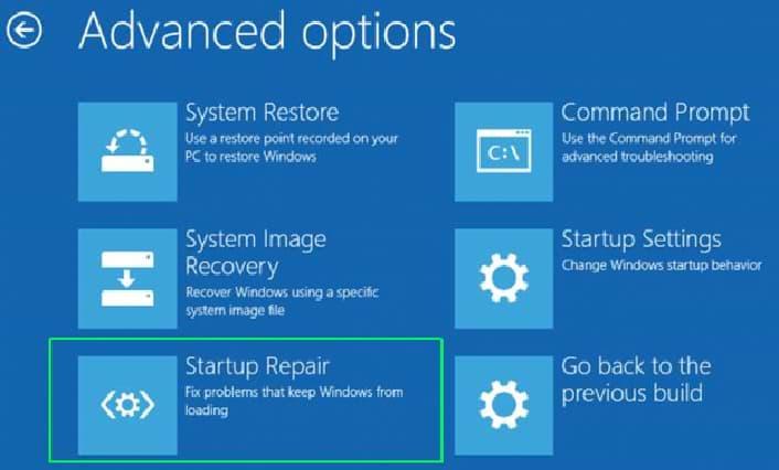 Use Windows startup repair