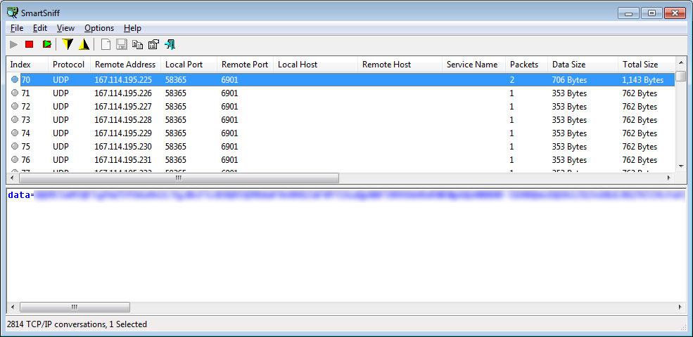 network traffic udp