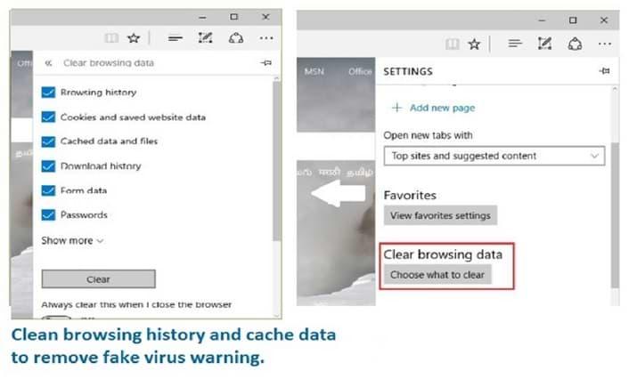 Clear Microsoft Edge History