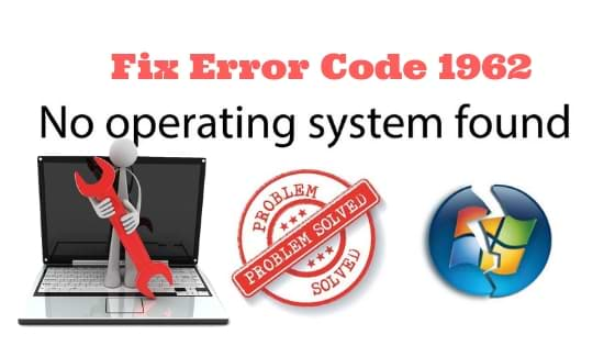 error 1962 no operating system found lenovo