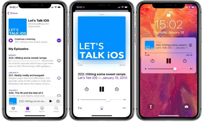 iOS 12 Apple Podcasts Features