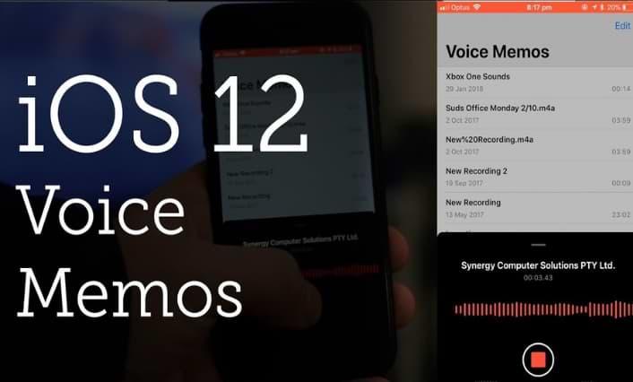 iOS 12 Voice Memos Features