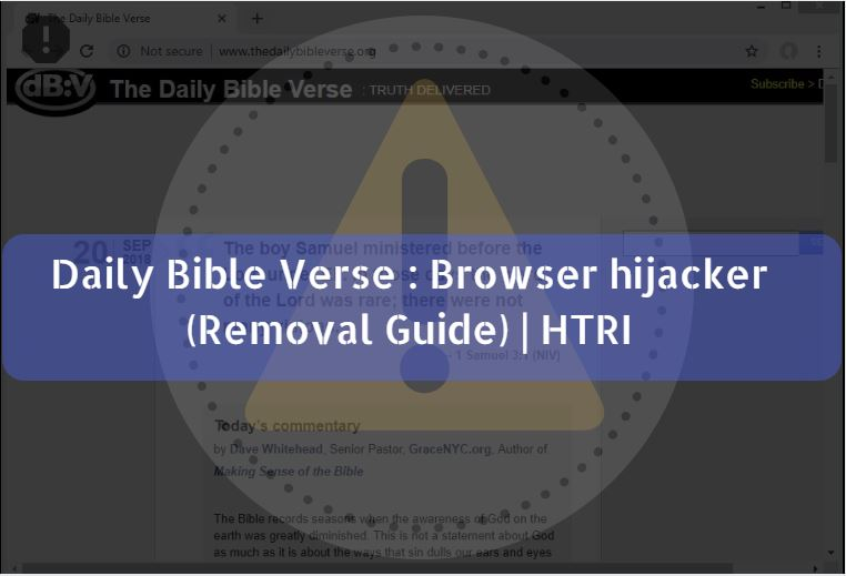 Daily Bible Verse : Browser hijacker (Removal Guide) | HTRI