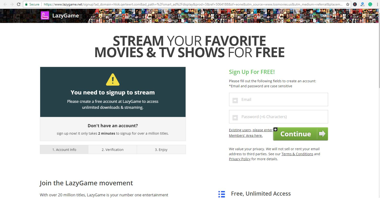 losmovies freeacount register