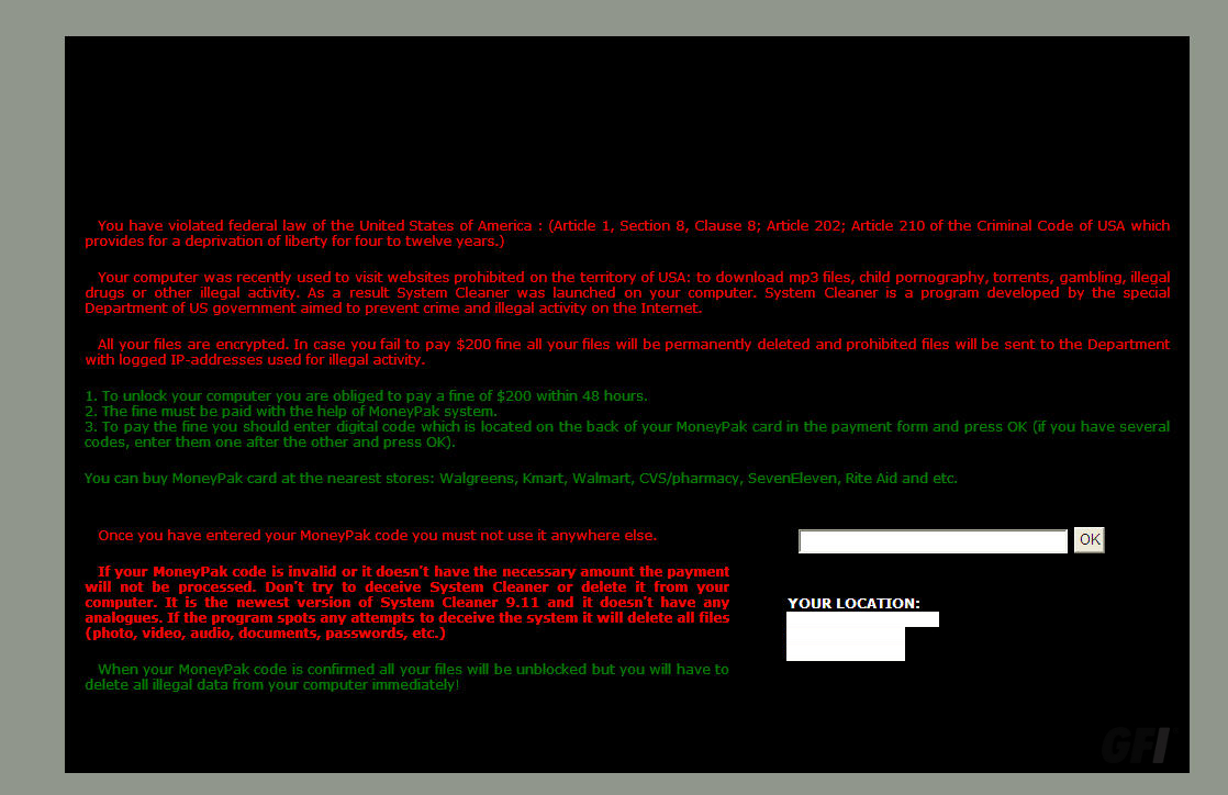 skype ransomware message