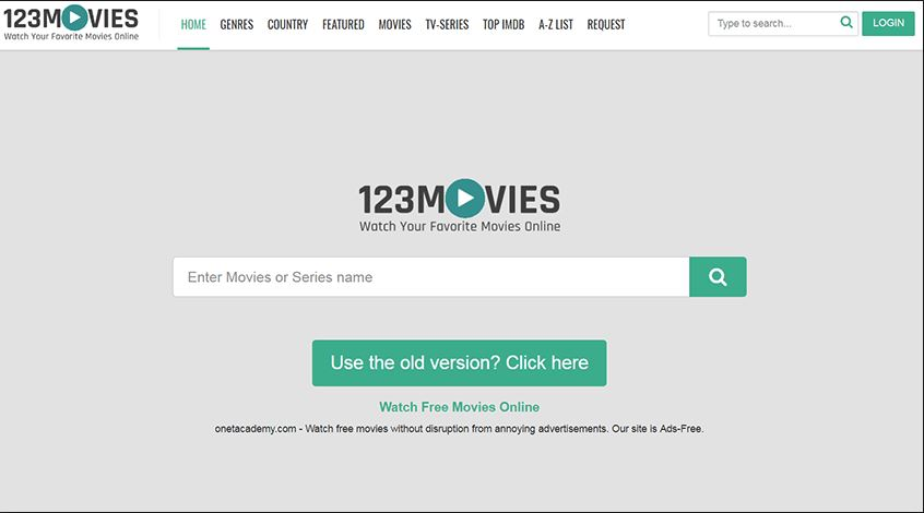 123movies old webpage