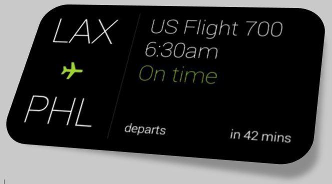 Google Glass Flight Schedule