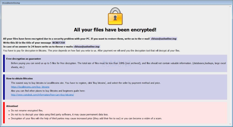 Arena Ransomware Encrypted
