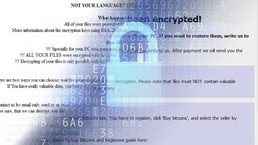 Arena Ransomware Message