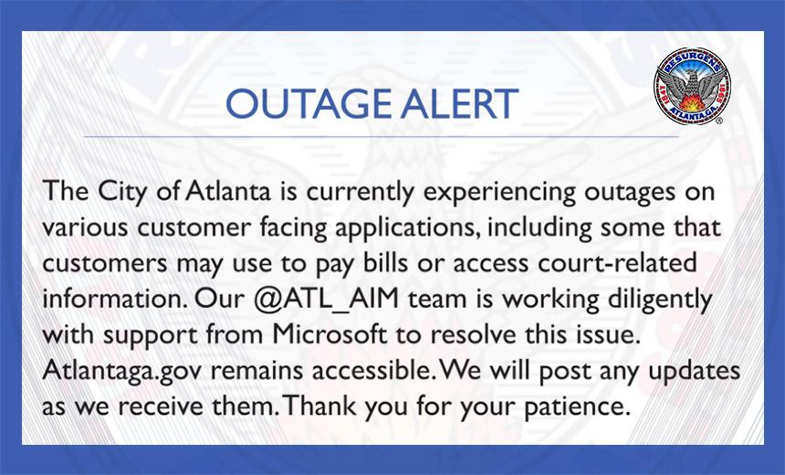 Atlanta Ransomware Attack Government Message
