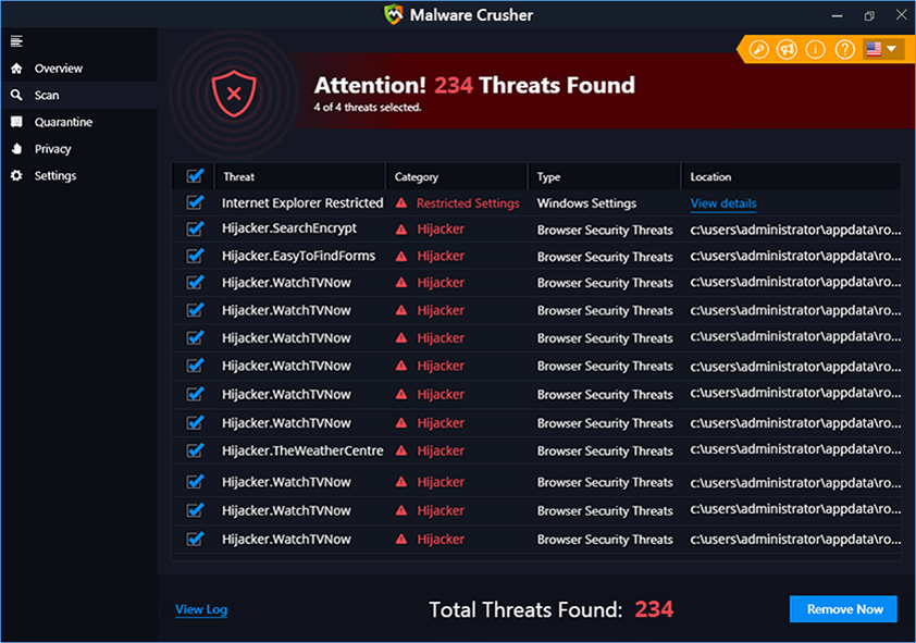 Threats Found