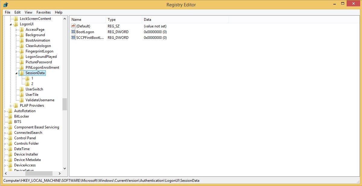LockApp Exe Windows Registry