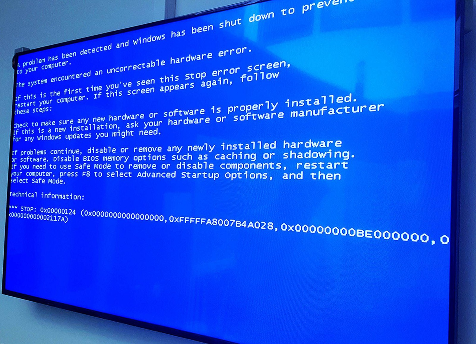Here's how to fix the blue screen of death.