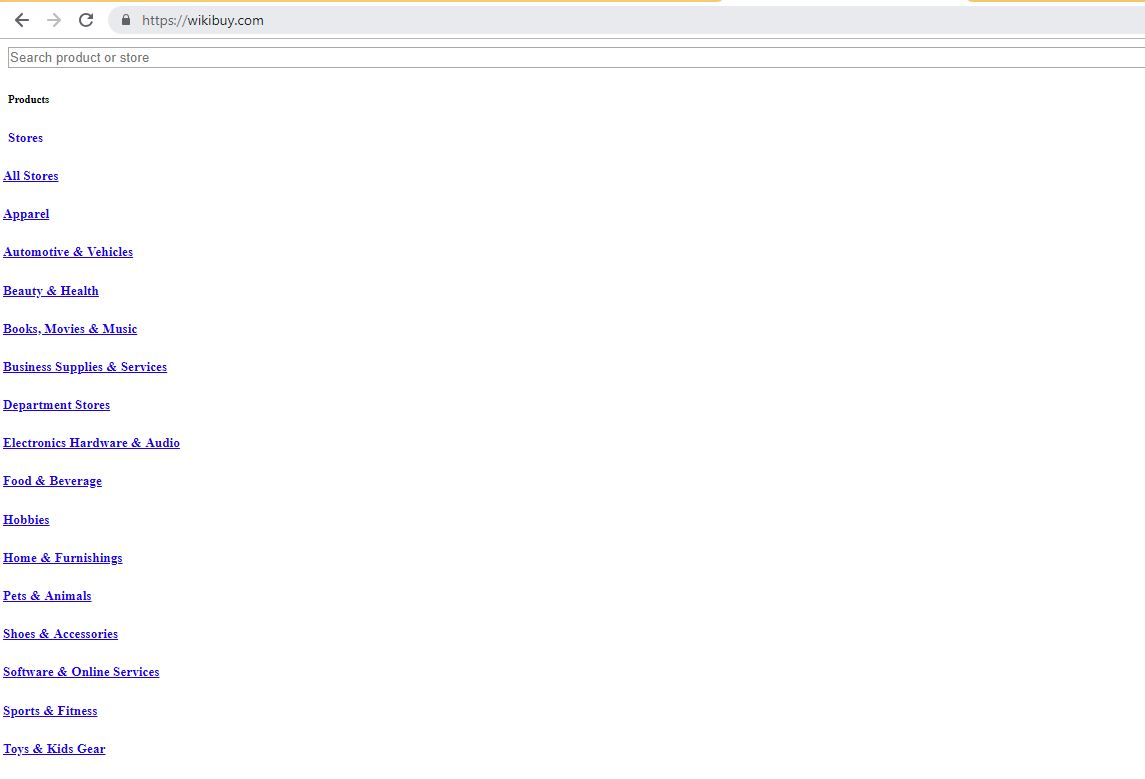 Wikibuy browser hijacker webpage