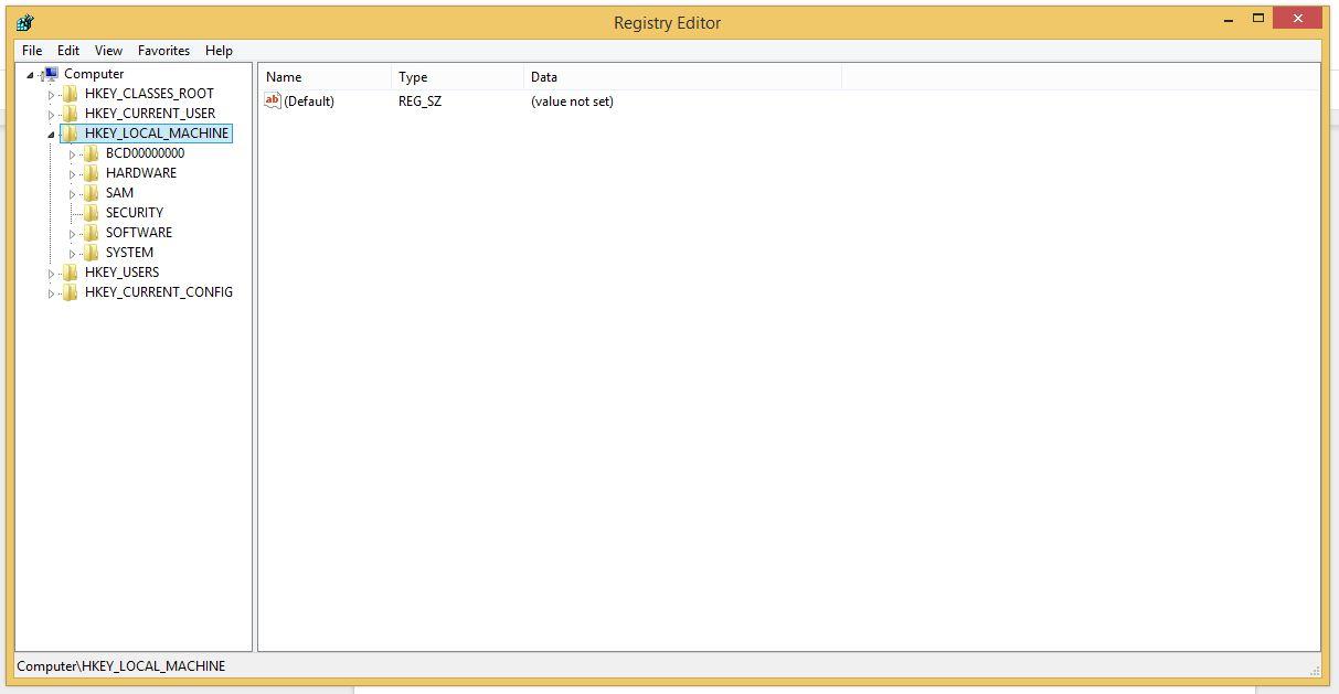 Windows registry editors