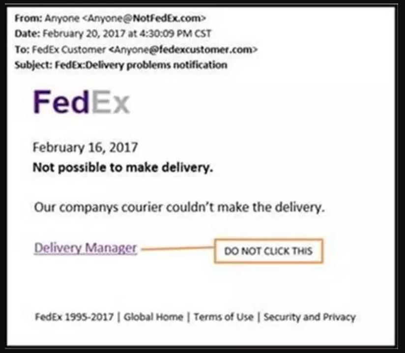 FedEx Tracking Email Virus