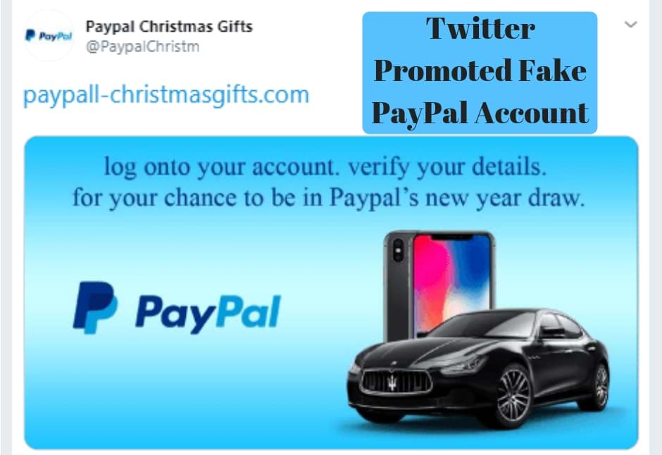 Twitter Promoted Fake PayPal Account Phishing Scam
