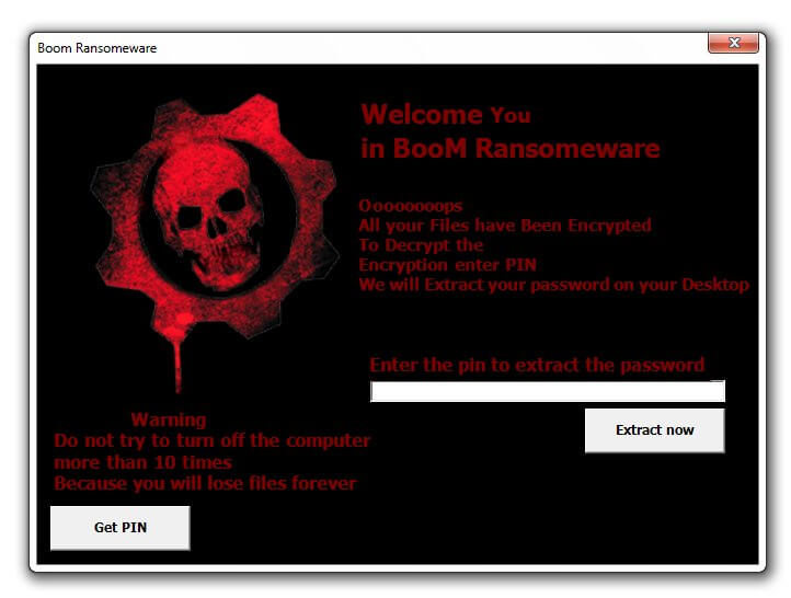 boom ransomware note