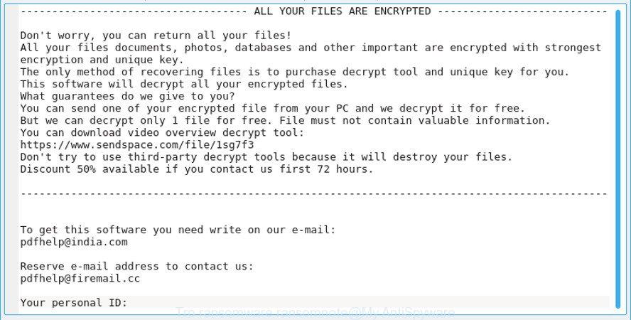 tro ransom note