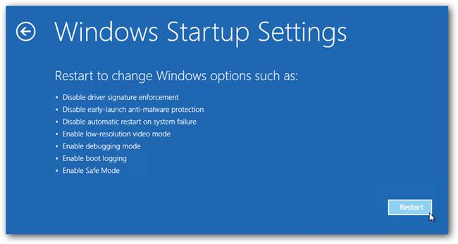 Windows 8 safe command