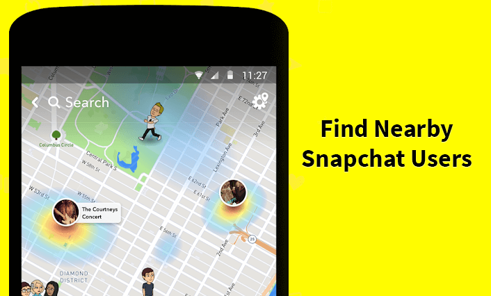 Nearby Users snapchat