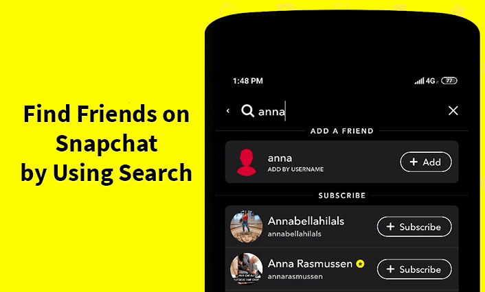 Search username snapchat