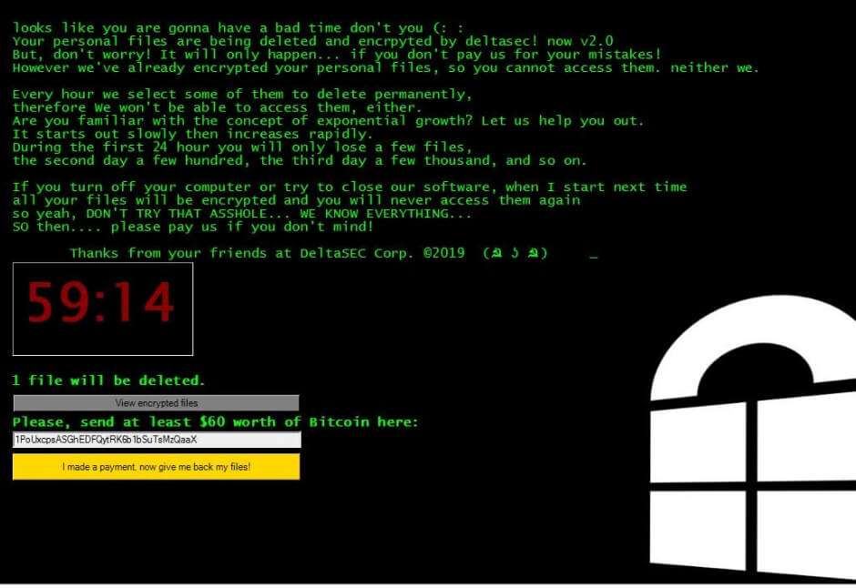 DeltaSEC Ransomware – Protection Guide and Removal Tool