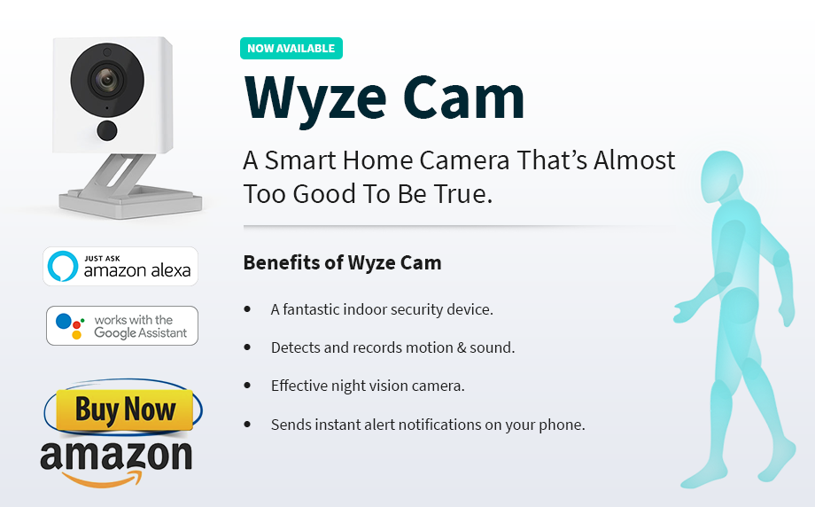 WyzeCam: Best Smart Home Security Camera with 1080P HD Live